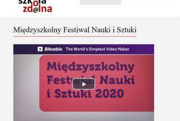 Międzyszkolny Festiwal Nauki i Sztuki