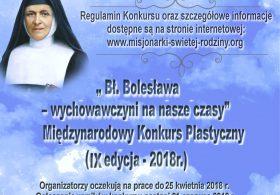 Międzynarodowy Konkurs Plastyczny- Bł. Bolesława Lament