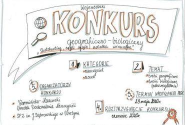 """Konkurs geograficzno-biologiczny: """"Sketchnoting, czyli moja notatka wizualna"""""""